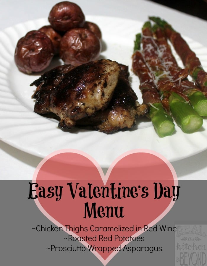 Easy Valentine's Day Menu | www.realthekitchenandbeyond.com
