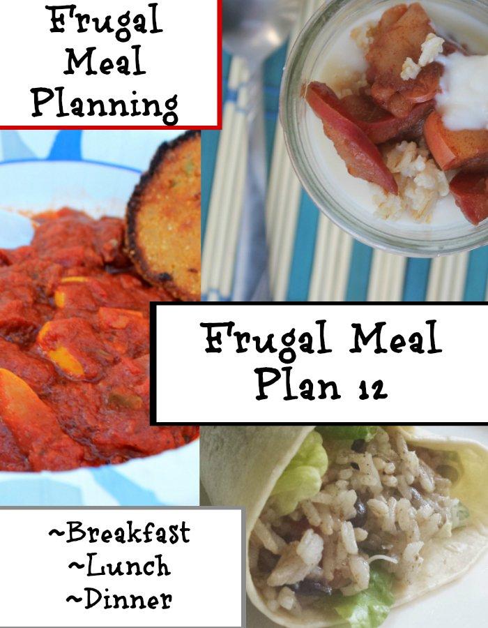 Frugal Meal Planning Frugal Meal Plan 12 | www.realthekitchenandbeyond.com