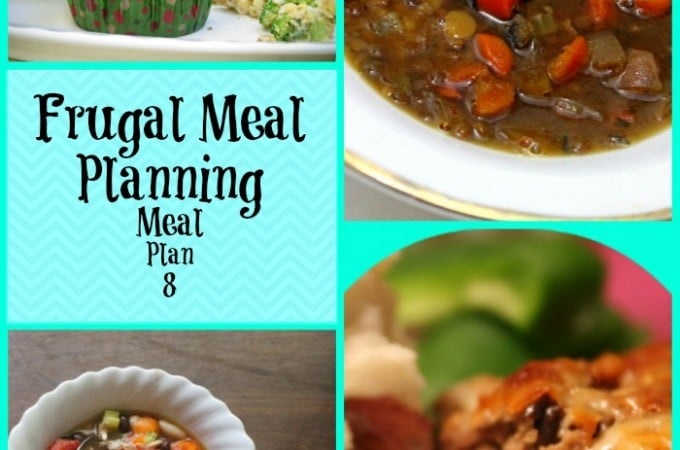 Frugal Meal Planning: Meal Plan 8