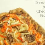 Leftovers taste better when they are repurposed into a new dish. You can use leftover roast beef or deli meat for this delicious homemade pizza | www.realthekitchenandbeyond.com
