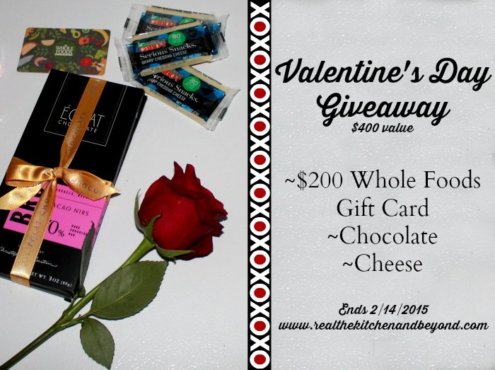 Valentine's Day Giveaway with Whole Foods and www.realthekitchenandbeyond.com