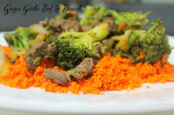 Ginger Garlic Beef and Broccoli Stir Fry -Quick Easy Meal: www.realthekitchenandbeyond.com