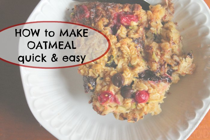 How to Make Oatmeal inquick and easy steps | www.realthekitchenandbeyond.com