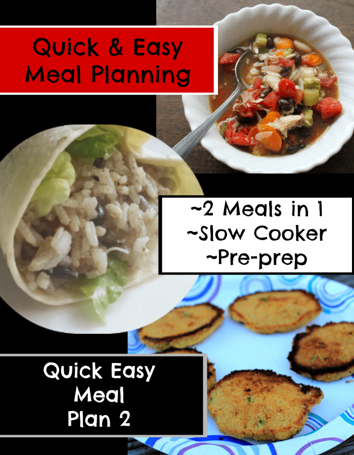 Quick easy meal plans are a great way to save on time in the kitchen - www.realthekitchenandbeyond.com