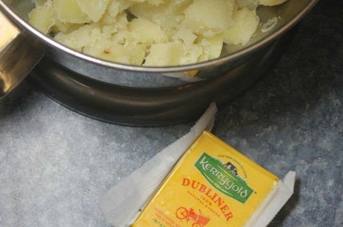 Potatoes and Kerrygold Dubliner