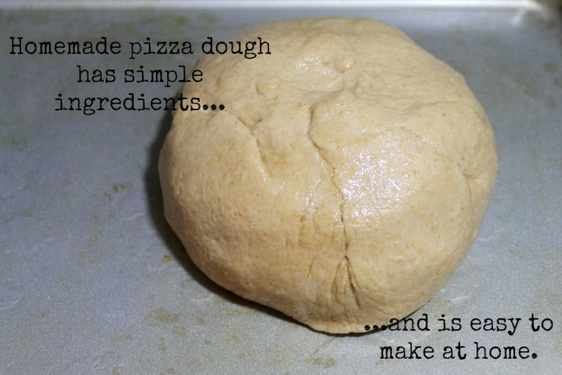 Homemade Pizza Dough Recipe -Homemade Pizza Dough has simple ingredients and is easy to make at home. Real: The Kitchen and Beyond