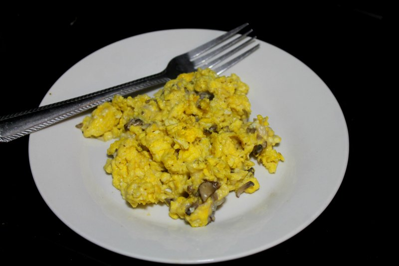 Quick and Easy Breakfast Recipes: Creamy Mushroom Scrambled Eggs - Real: The Kitchen and Beyond