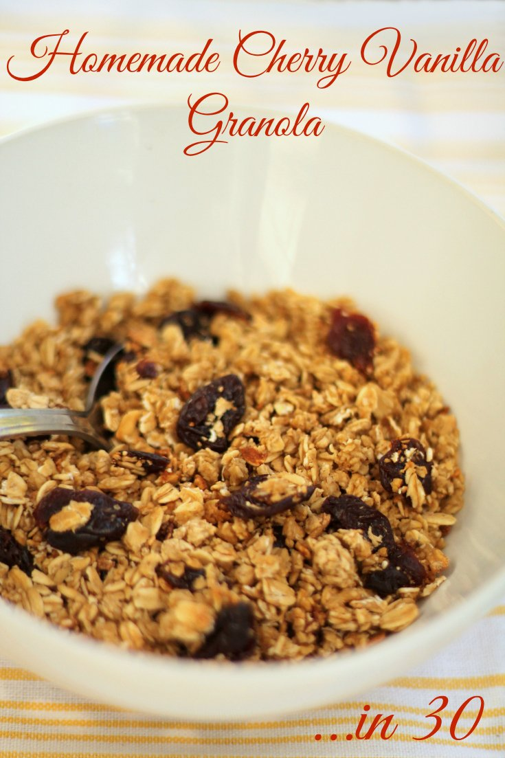 Cherry Vanilla Homemade Granola Recipe in 30 Minutes - Real: The Kitchen and Beyond