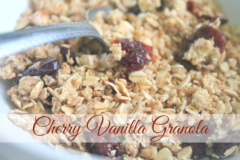Cherry Vanilla Homemade Granola Recipe - Real: The Kitchen and Beyond