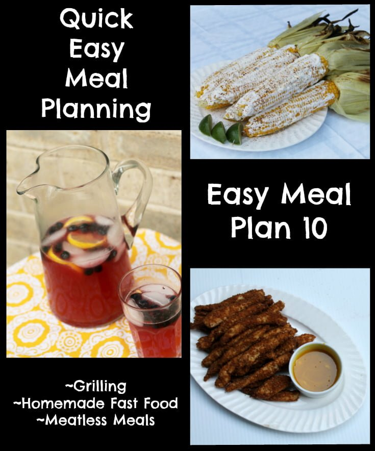 Quick Easy Meal Planning: Easy Meal Plan 10 - Real: The Kitchen and Beyond