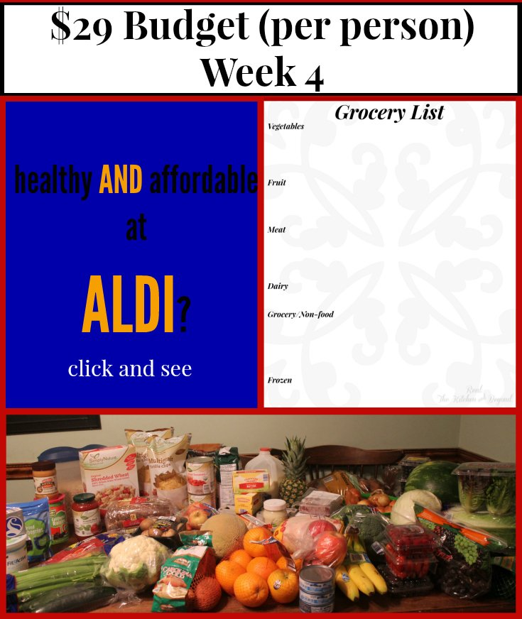 29 dollar grocery budget meal plan 4 -ALDI - Real: The Kitchen and Beyond