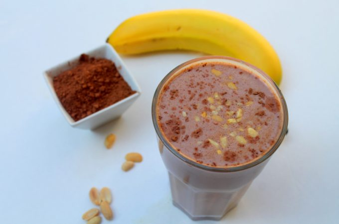 Chocolate Banana Peanut Butter Smoothie - Real: The Kitchen and Beyond