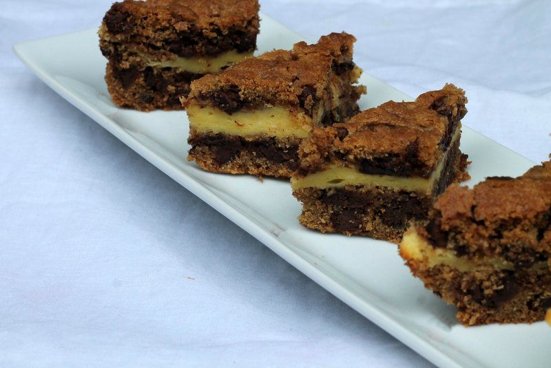Chocolate Chip Cookie Cheesecake Bars - Real: The Kitchen and Beyond