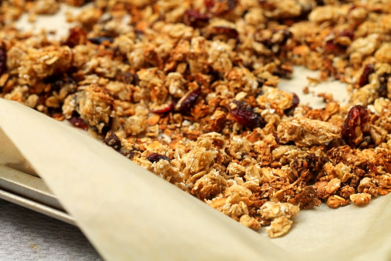 Chocolate Cranberry Homemade Granola Recipe - Real: The Kitchen and Beyond