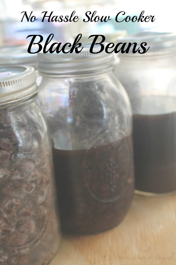 No Hassle Slow Cooker Black Beans - Real: The Kitchen and Beyond