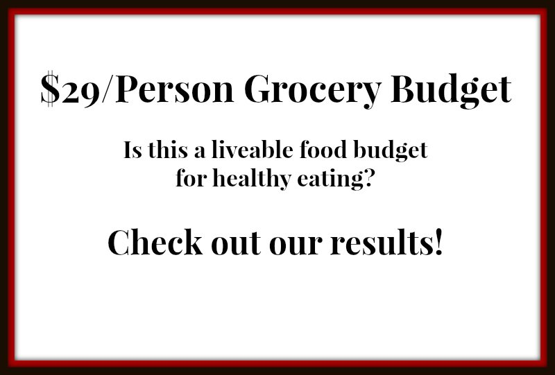 $29/Person Grocery Budget - Is this a liveable budget for healthy eating? Check out our results!