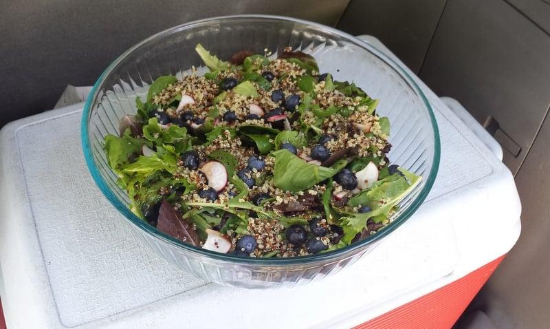 Blueberry Radish Quinoa Salad