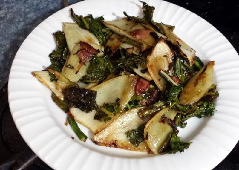 Fennel, Kale Bacon Side Dish