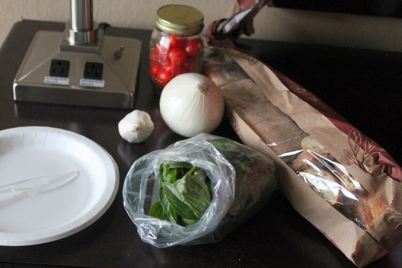 Homemade Bruschetta Ingredients