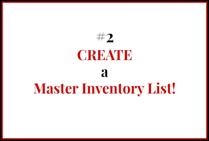 Pantry and Freezer Inventory - 2 Create a Master Inventory List