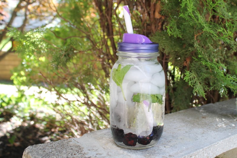 Sip and Straw Lid with Blackberry Mint Spa Water - Real: The Kitchen and Beyond