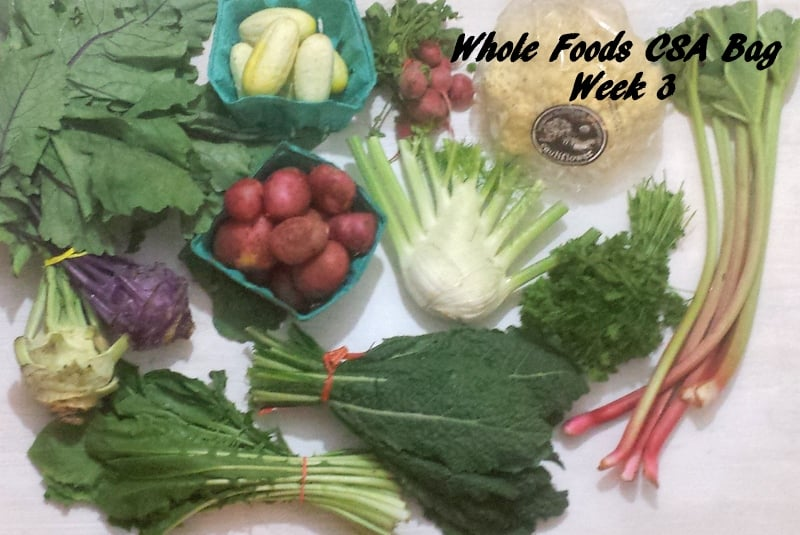 Whole Foods CSA Week 3 Produce