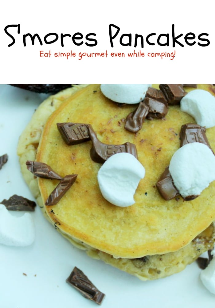 Camping Recipes - S'mores Pancake Recipe - Real: The Kitchen and Beyond