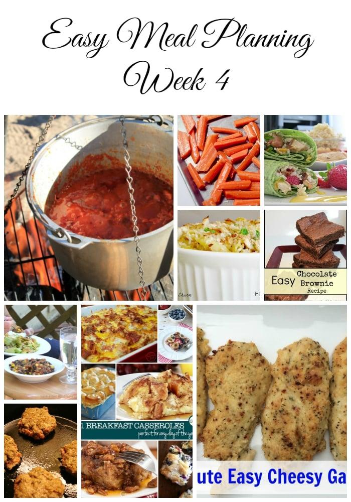 Easy Meal Planning Week 4
