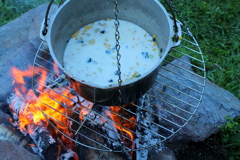 Fire Roasted Poblano Corn Soup 2