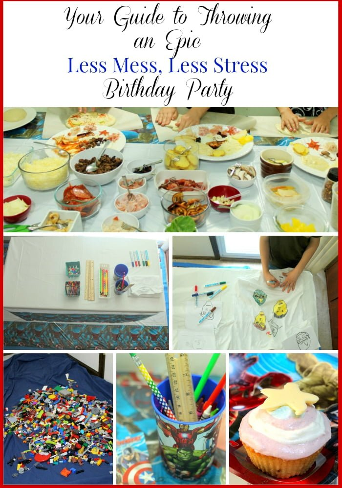Marvel Avengers Birthday Party Collage