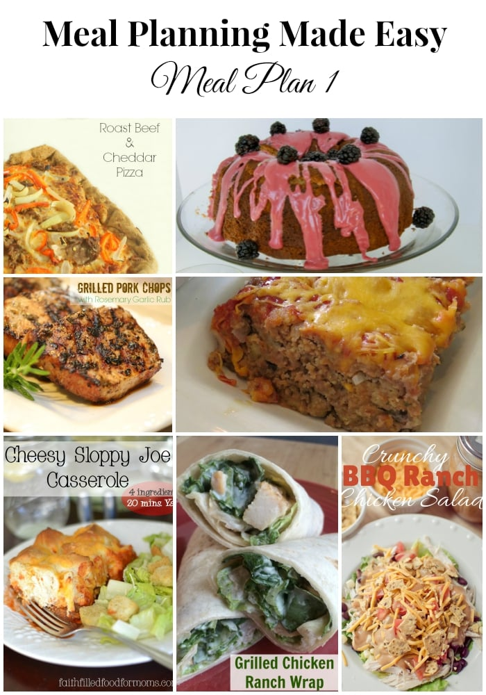 Meal Planning Made Easy Meal Plan 1 - Real: The Kitchen and Beyond