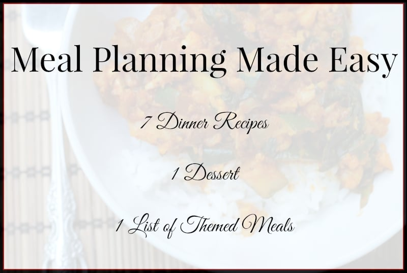 Meal Planning Made Easy Weekly Meal Plans