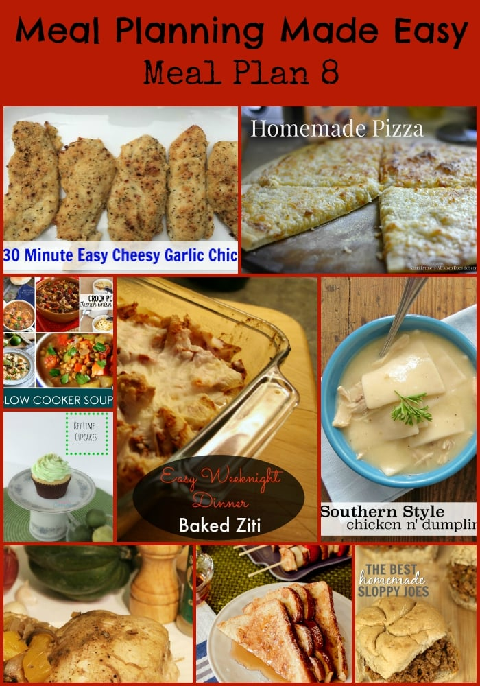 Meal Planning Made Easy Meal Plan 8