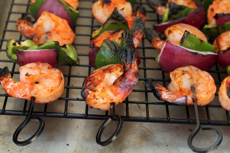 Sweet and Spicy Shrimp Kabobs 6