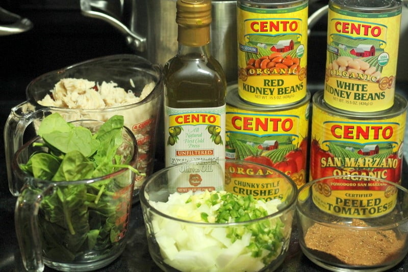 Cento Products for Chicken, Bean, and Spinach Chili