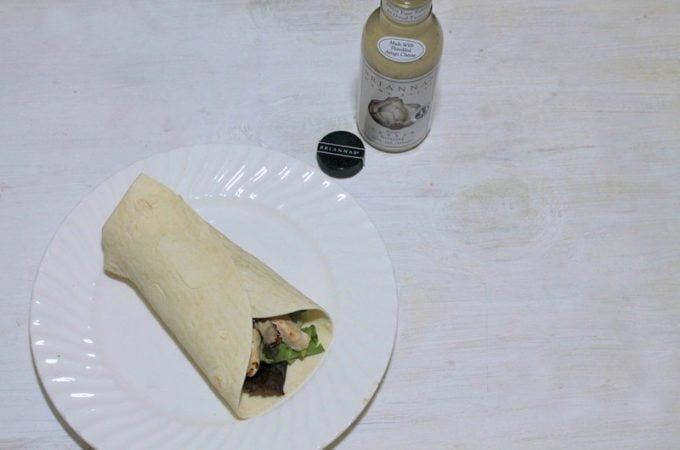 Chicken Bacon Caesar Wrap with Brianna's Asiago Caesar Dressing