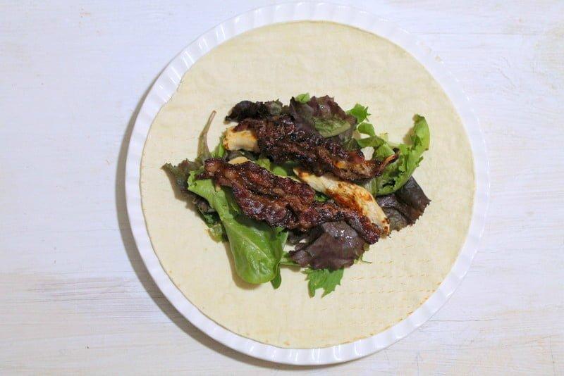 Chicken Bacon Caesar Wraps 6