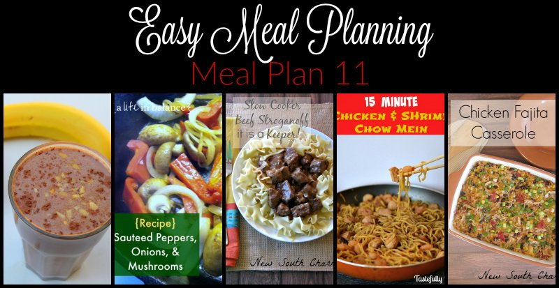 Easy Meal Planning Meal Plan 11