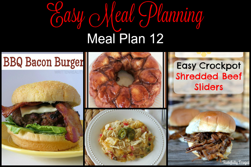 Easy Meal Planning Easy Meal Plan 12