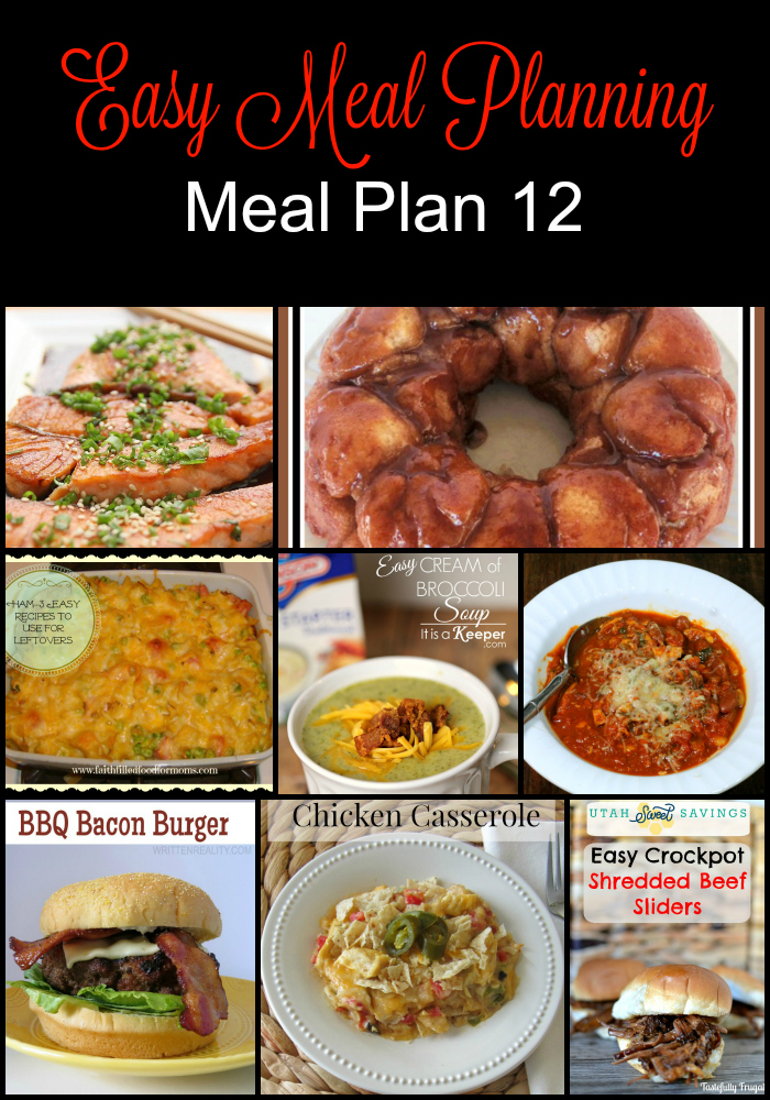 Easy Meal Planning Meal Plan 12
