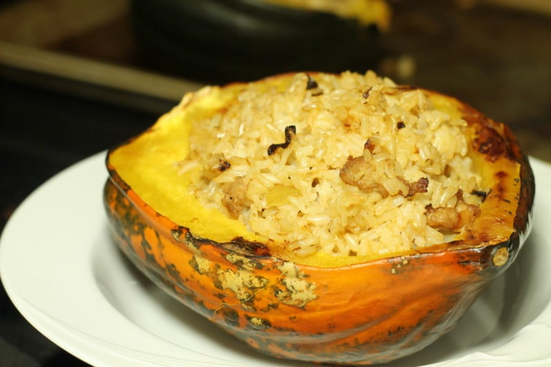 Rice Stuffed Acorn Squash Recipe