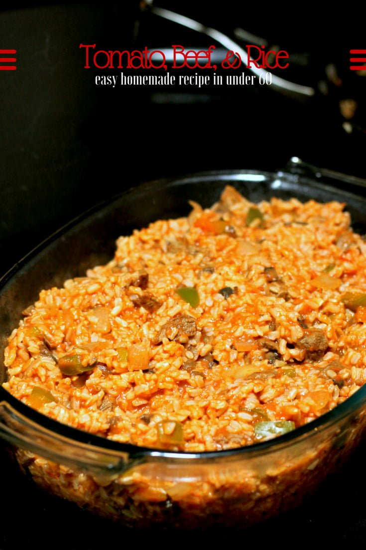Tomato, Beef, & Rice Casserole - Easy Homemade Recipes - Dinner Under 60