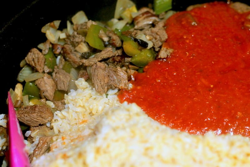 Tomato, Beef, and Rice Cooking - Easy Homemade Recipes