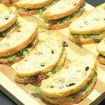 Duck Bacon, Marmalade, and Arugula Sandwiches