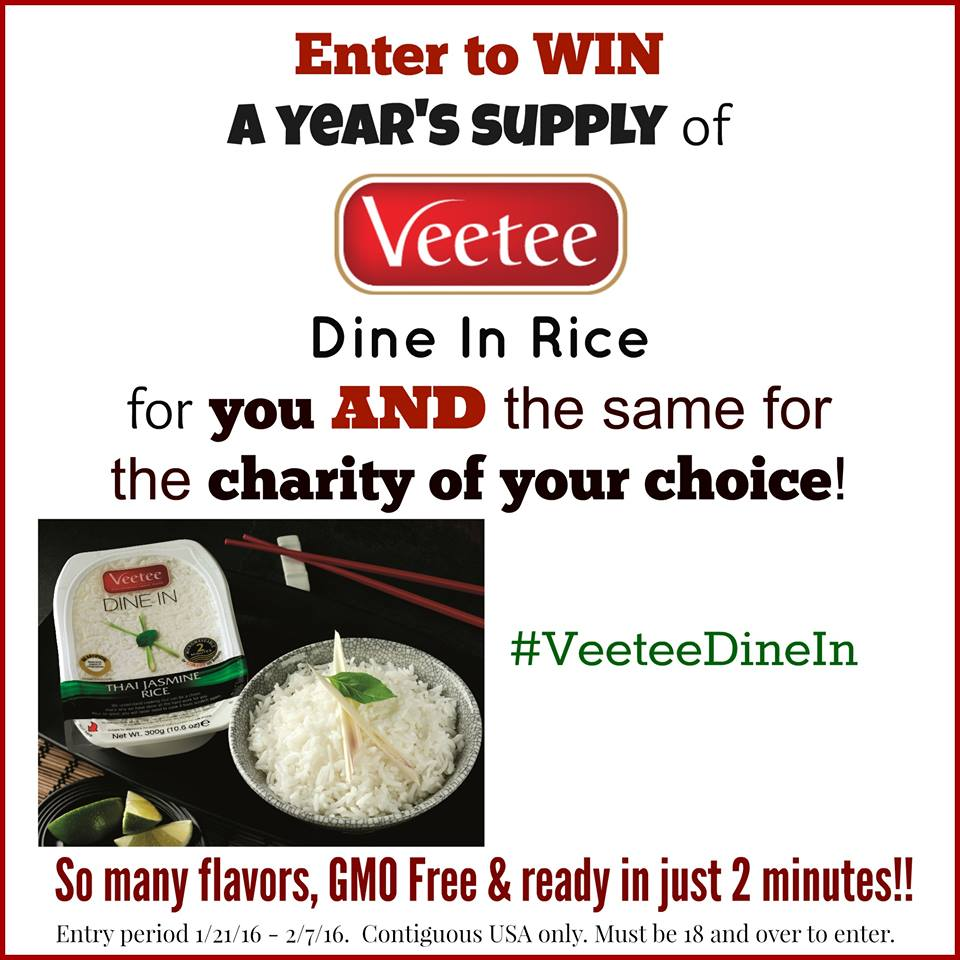 Veetee Dine In Rice Giveaway