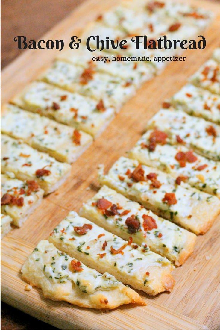 Bacon & Chive Flatbread Appetizer Recipe