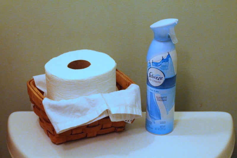 Charmin and febreze for Game Day Prep