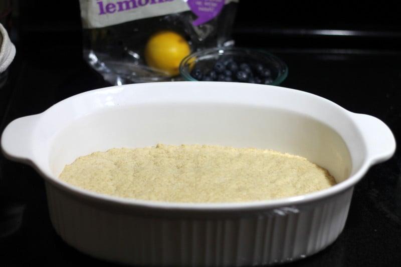 Meyer Lemon Blueberry Bars Crust