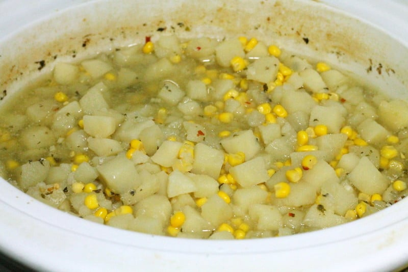 Potato Corn Chowder in Slow Cooker