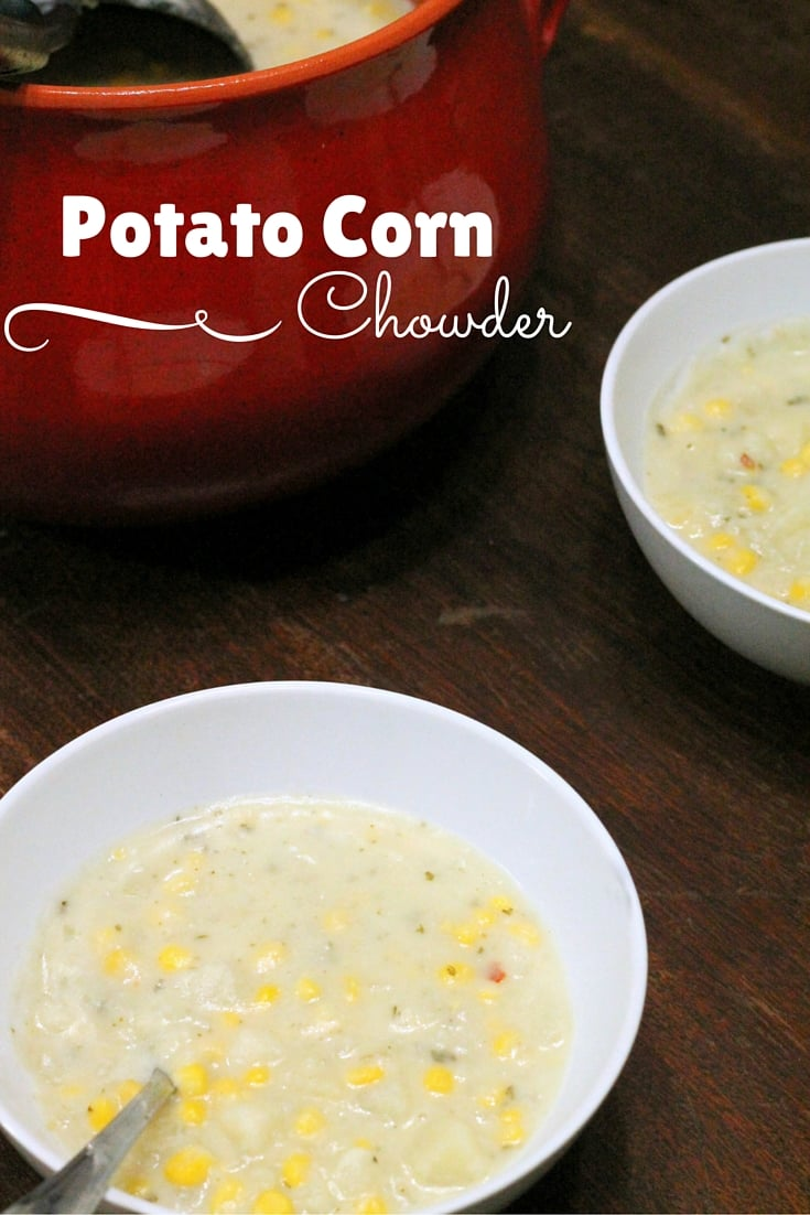 Potato Corn Chowder - Easy homemade slow cooking recipe